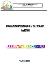 resultats techniques semi marathon 2013