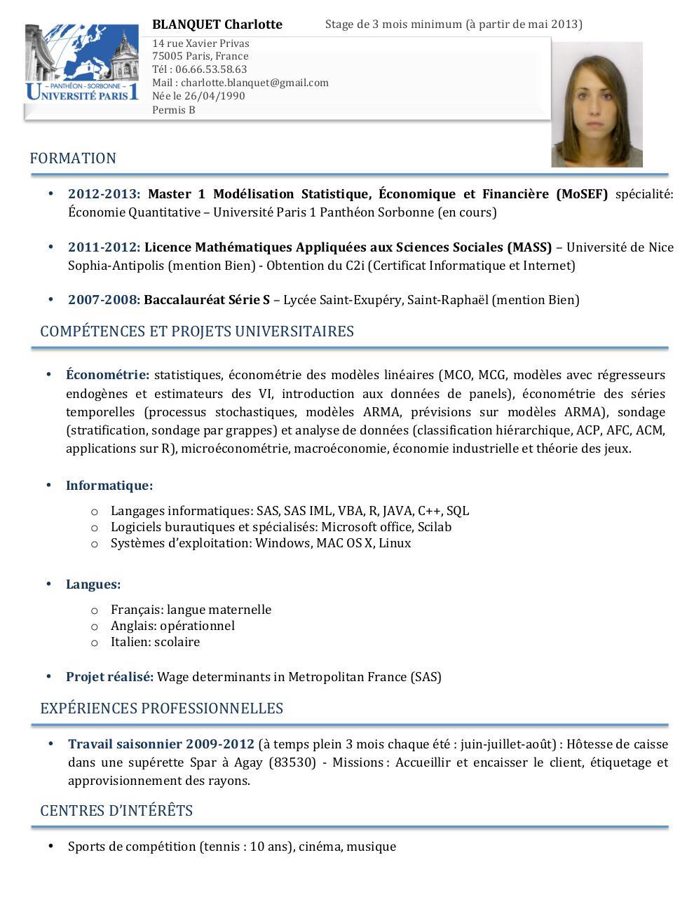 cv blanquet charlotte docx par charlotte blanquet - cv blanquet pdf