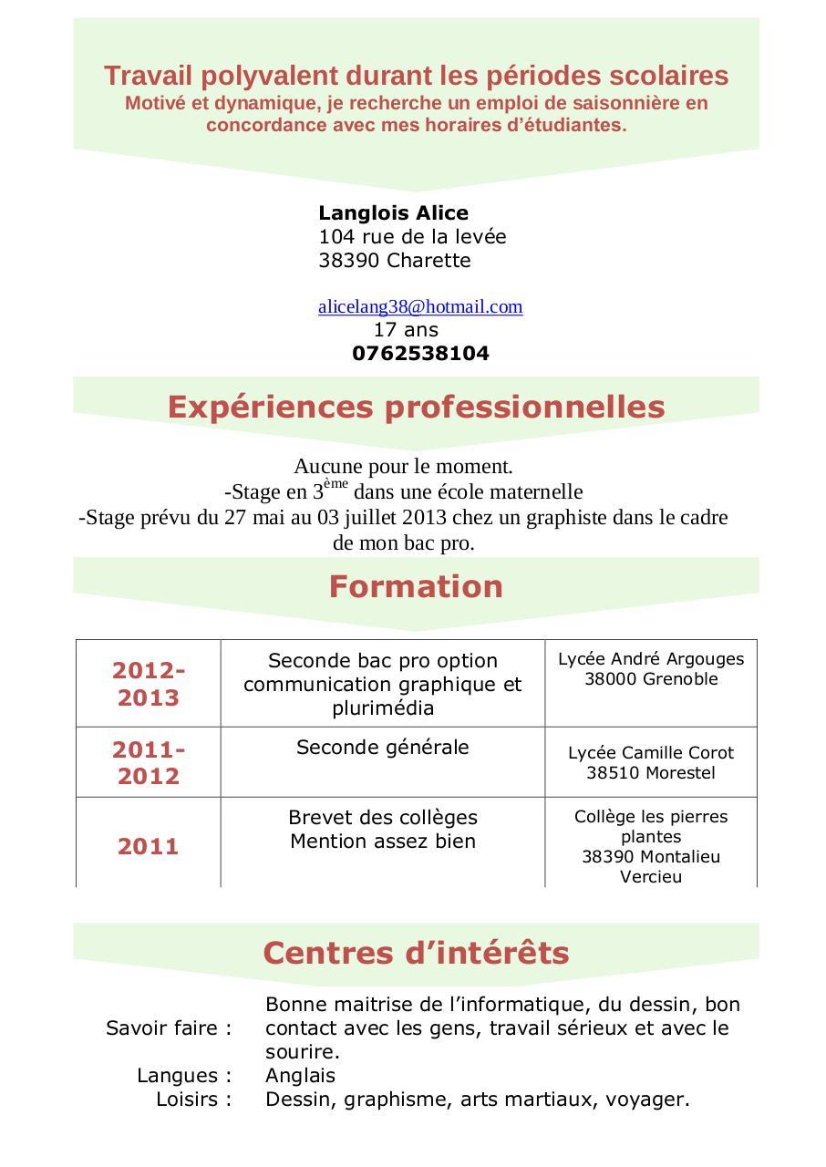 cv-jobdete pdf par sncf