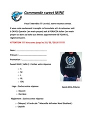 Fichier PDF commande sweat mine