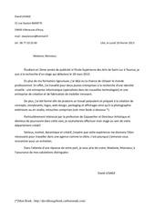 lettre motivation david lesage