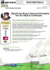 objectif top 10 pour pascal lors du rallye du coutancais