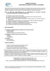 Fichier PDF profil de poste coordinateur formation suiveur conception