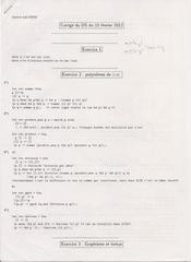 corrige ds1 info ancien sup20001