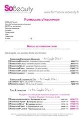 formulaire d inscription a completer