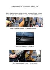 remplacement des housses des sieges dans le camping car