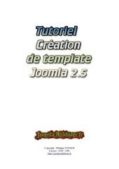 creation de template joomla 2 5 v 1 0 1