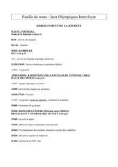 Fichier PDF feuille de route