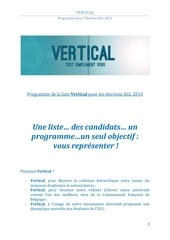 programme vertical 2013