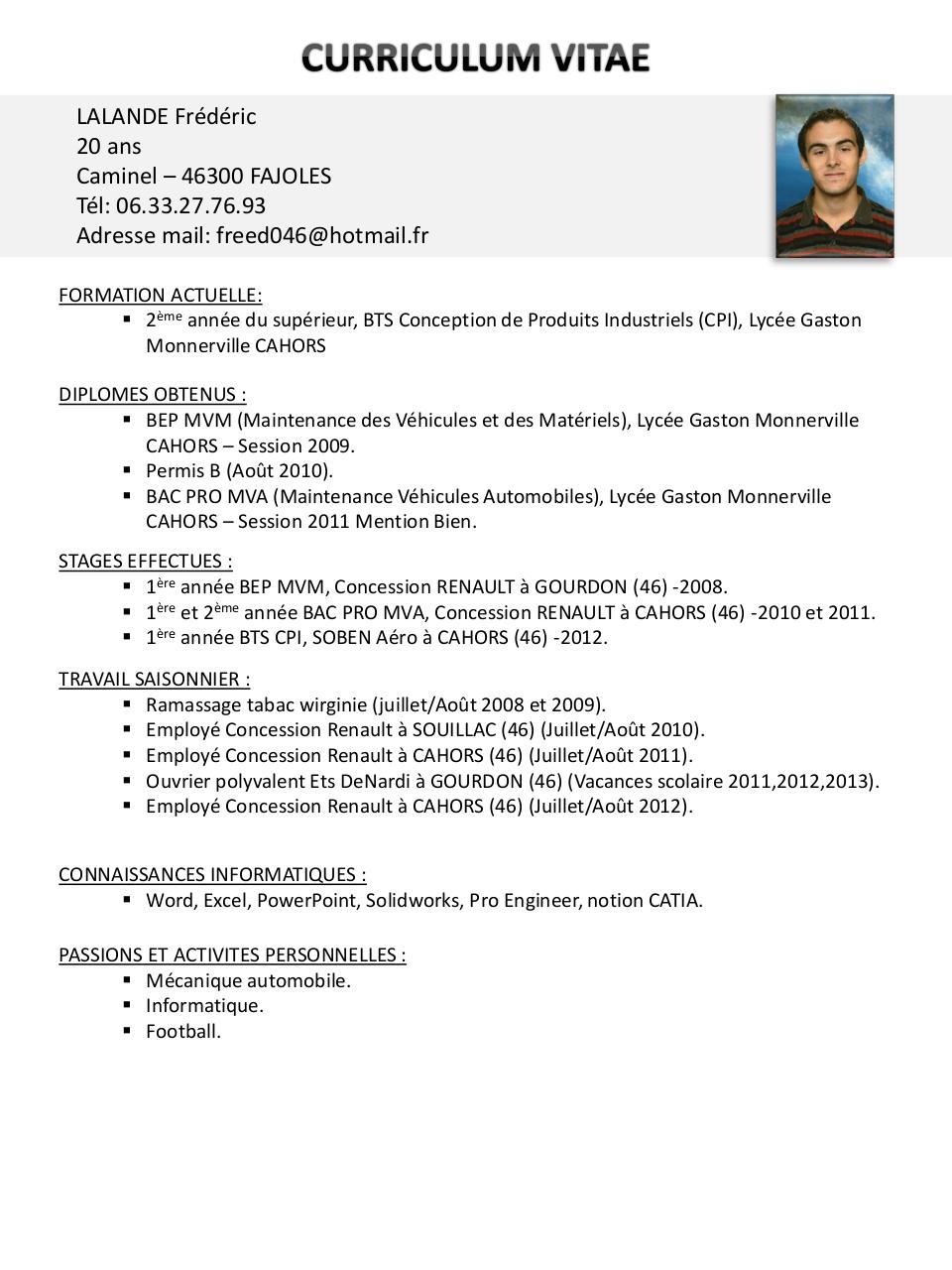 pr u00e9sentation powerpoint par fredo - cv pdf