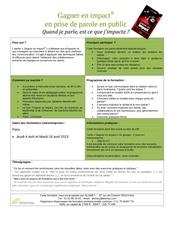 programme gagner en impact 2013