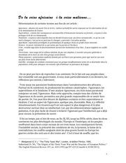de la crise africaine a la crise malienne