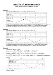 derivees et sens de variations correction