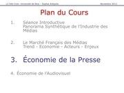 economie de la presse francaise mars 2013