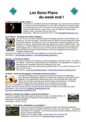 les bons plans du week end semaine n 10 2013