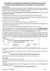 reglement bourse taillis 2013
