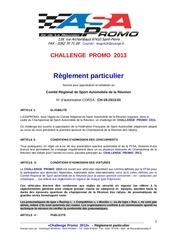 reglement challenge promo 2013 2 1