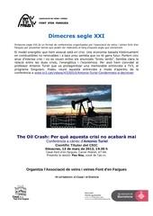 anunci acte the oil crash segle xxi 1