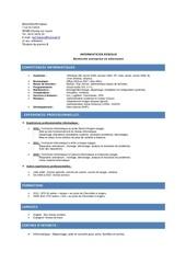 cv licence pro