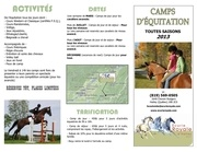 camps d equitation