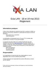 reglement exia lan 2013