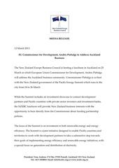 media release nzebc