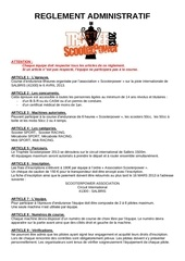 reglement trophee scooterpower 6h 2013