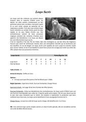 loups sacres regles