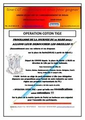 operation coton tige 21 mars