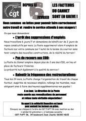 tract usager le cannet du 13 mars