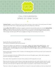 appel de dossier 2013 baby show