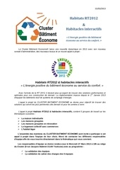 cluster batiment econome habitats rt 2012 interactif