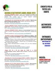 agenda abril maig 2013