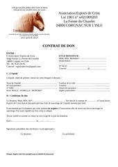 contrat de don chevaux adoptes edc