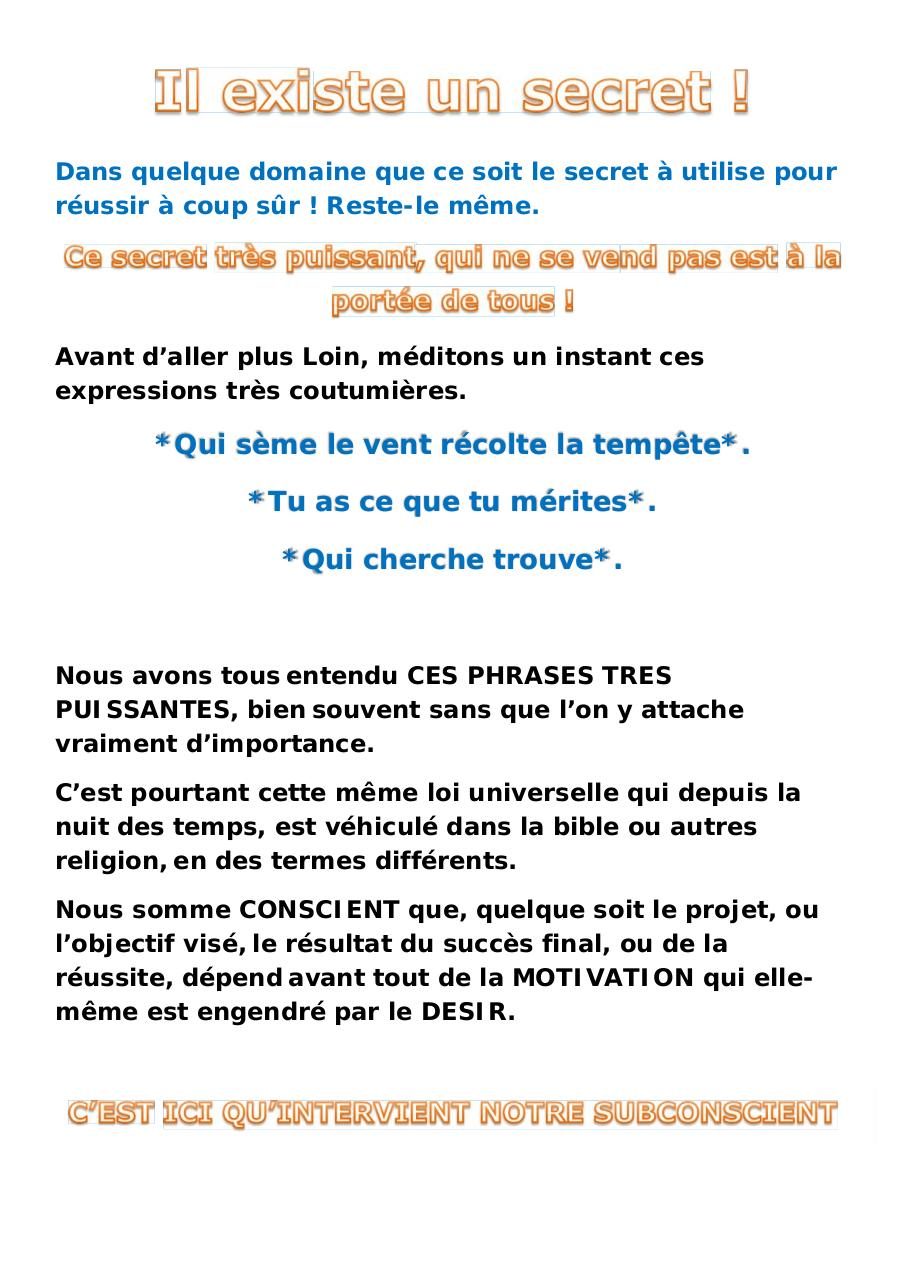 Aperçu du document il existe un secret !.pdf - page 1/3