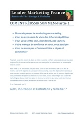 Fichier PDF comment reussir son mlm