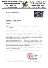 note jonas kemajour au premier ministre camerounais