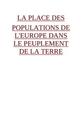 place des populations dans l europe