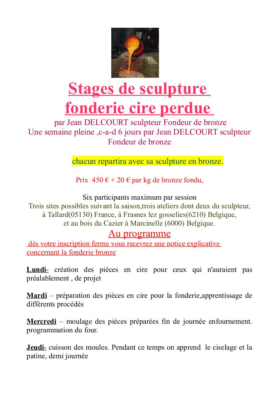 stage sculpture fonderie 2013.pdf - page 1/2