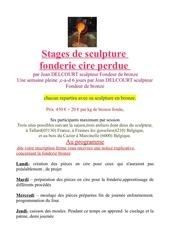 Fichier PDF stage sculpture fonderie 2013