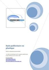 Fichier PDF stylo publicitaire en plastique 1