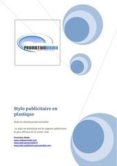 Fichier PDF stylo publicitaire en plastique