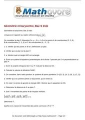 baccalaureat geometrie et barycentre bac s inde maths 270
