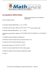 baccalaureat les equations differentielles maths 249