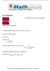 baccalaureat les integrales maths 246 1