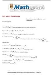 baccalaureat les suites numeriques maths 245