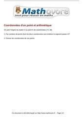 Fichier PDF brevet coordonnees d un point et arithmetique maths 225