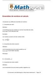 cours ensembles de nombres et calculs maths seconde 48