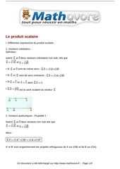 cours le produit scalaire maths terminale 22