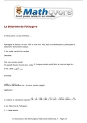 cours le theoreme de pythagore maths quatrieme 40